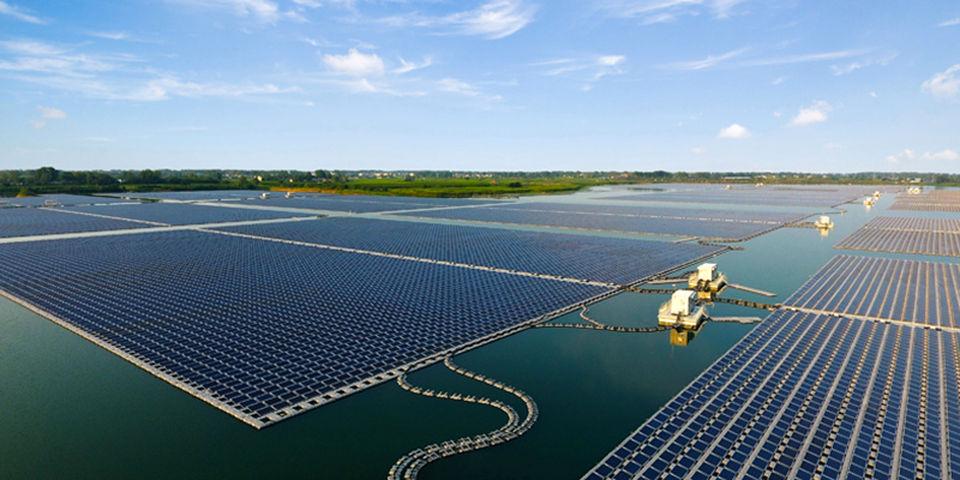 Illustration/Sungrow's Xinji Huainan floating solar farm (Courtesy of Sungrow)
