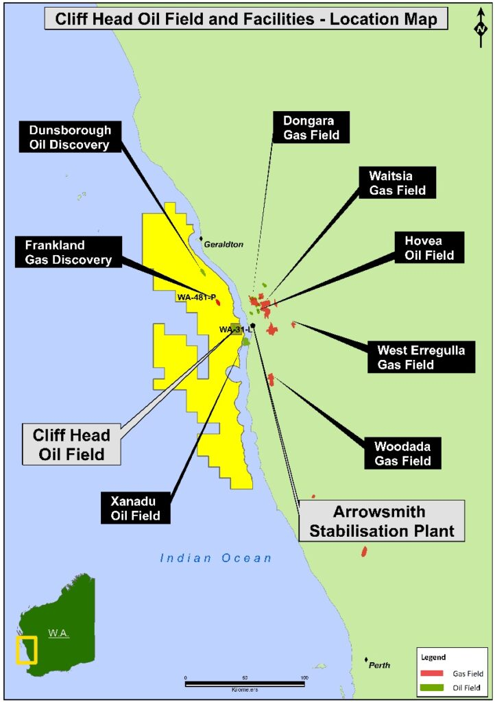 Cliff Head map - Triangle Energy