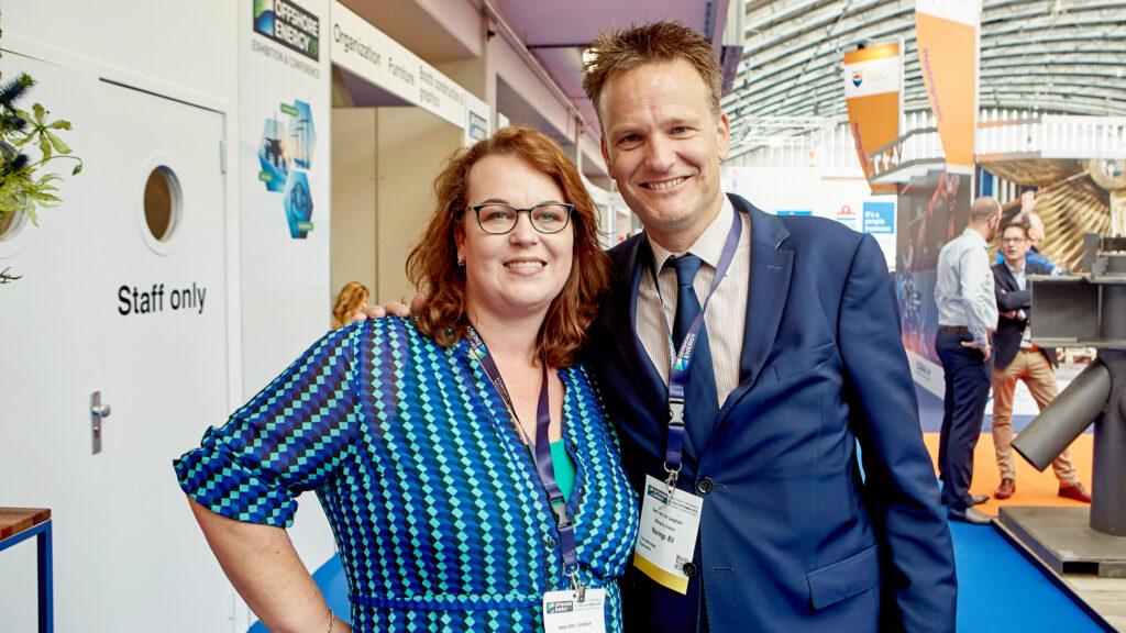 Nancy Slob, Event Coordinator,  with Coert van Zijll Langhout, Managing Director at Navingo